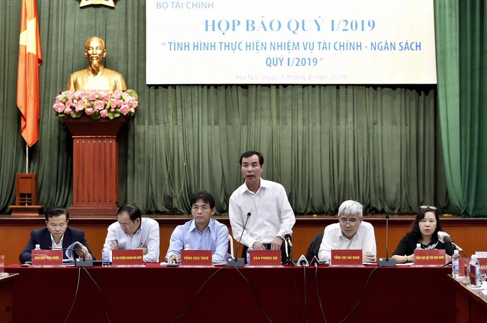 Bộ Tài chính họp báo thông tin tình hình thực hiện nhiệm vụ tài chính -ngân sách quý I