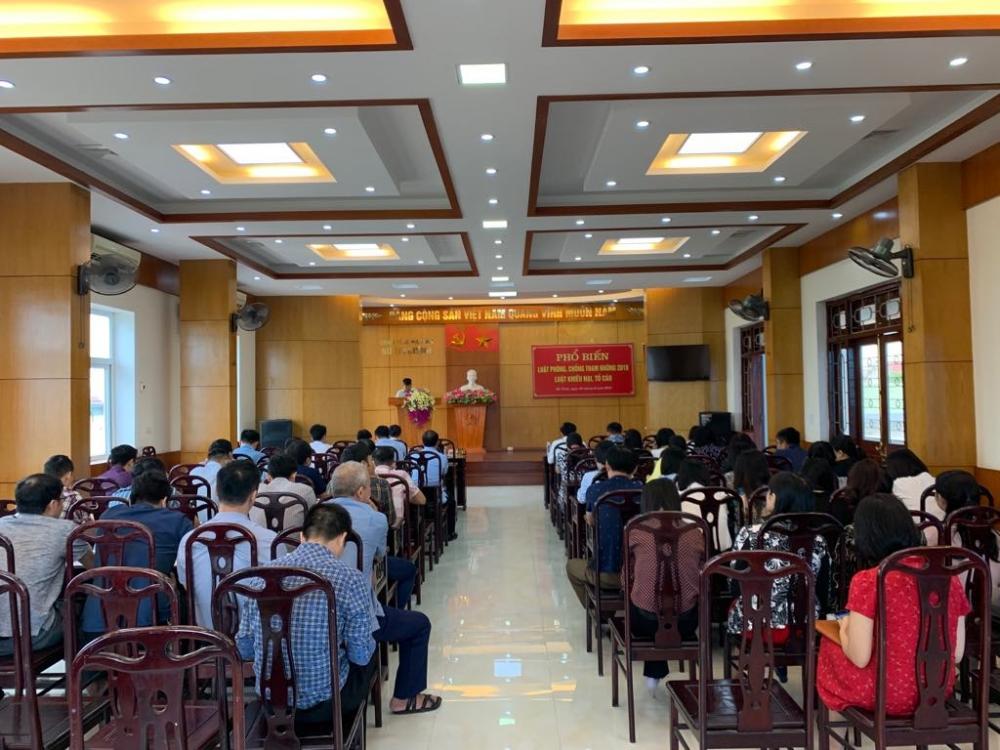 Hội nghị phổ biến Luật Phòng, chống tham nhũng  2018; Luật Tố cáo