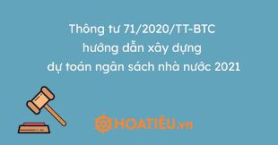Về việc triển khai xây dựng dự toán 2021