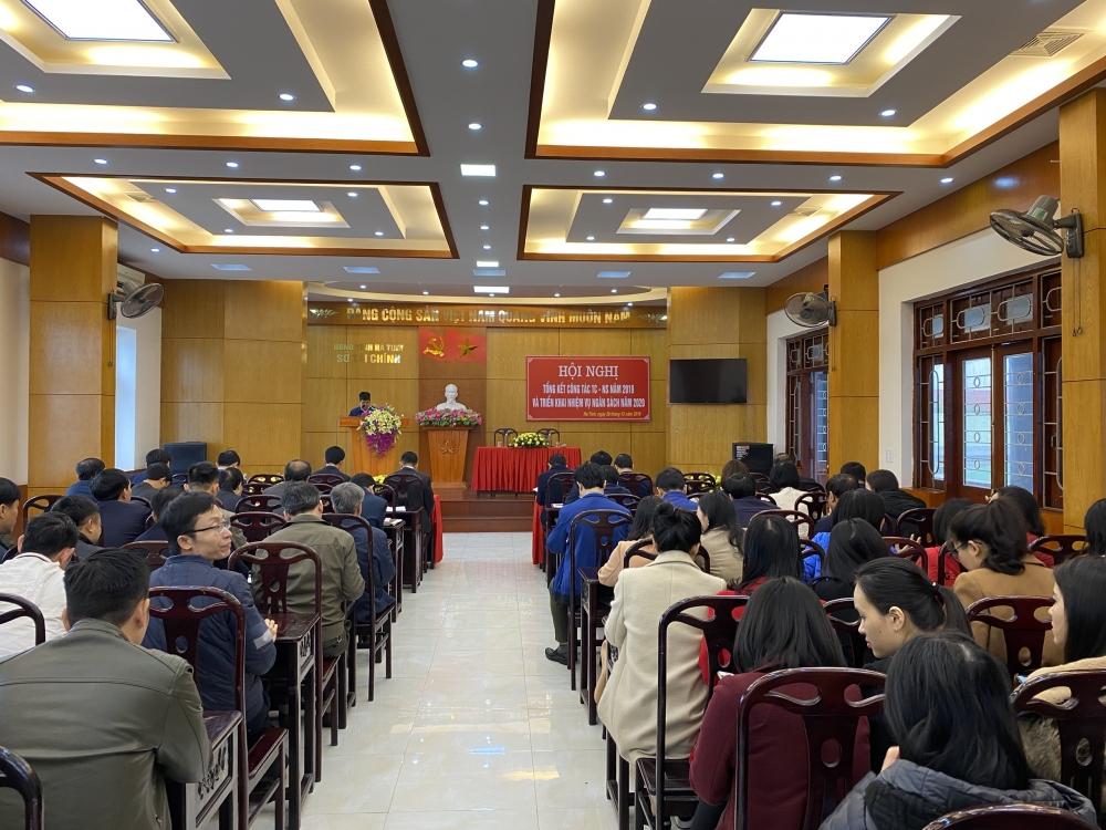 Hội nghị tổng kết công tác Tài chính ngân sách năm 2019,  Triển khai nhiệm vụ năm 2020