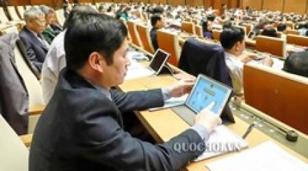 Đại biểu Quốc hội vào Hội trường chỉ cần mang theo điện...